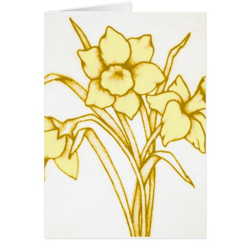 St David's Day Daffodil Card Yellow