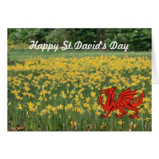 St. David's Day Daffodils Card