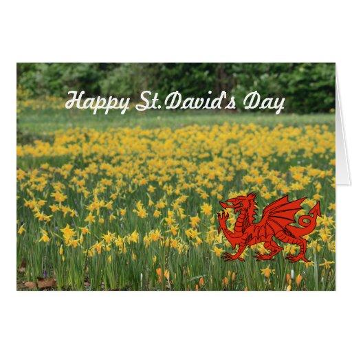St. David's Day Daffodils Greeting Card
