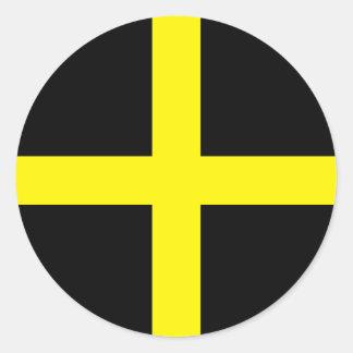 St. David's Day Flag Classic Round Sticker