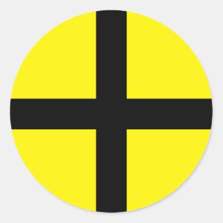 St. David's Day - Flag Classic Round Sticker
