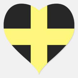 St. David's Day Flag Heart Sticker