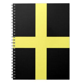 St. David's Day Flag Spiral Notebooks