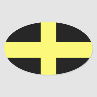 St. David's Day Flag Oval Sticker
