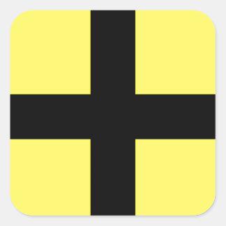 St. David's Day - Flag Square Sticker