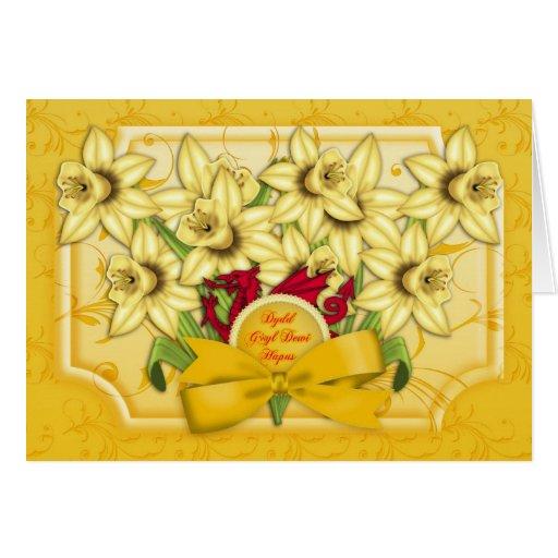 St. David's Day Greeting Card - Dydd Gwyl Dewi Hap