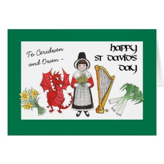 St David's Day Greeting Card to Personalize