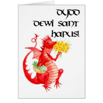 St David's Day Greeting Card (Welsh)