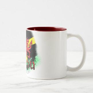St. David's Day Mug, Grunge, St. David's, Dragon