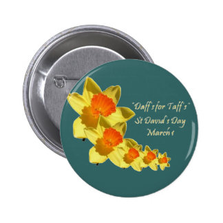 St David's Day Pinback Button