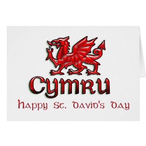 St. David's Day, Saint David, Ddydd Gwyl Dewi Sant Card