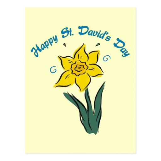 St. David's Day Tees, Gifts, Cards, Totes Post Card
