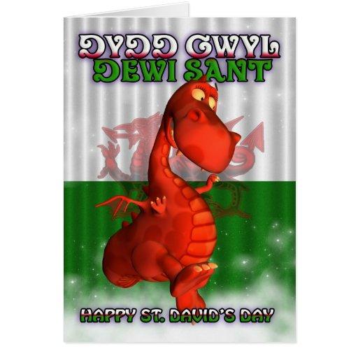 St. David's Day, Welsh Card, Dydd Gwyl Dewi Sant