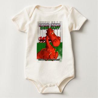 St. David's Day, Welsh Card, Dydd Gwyl Dewi Sant Baby Bodysuit