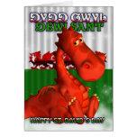 St. David's Day, Welsh Card, Dydd Gwyl Dewi Sant Card