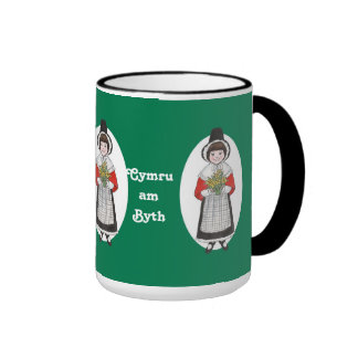 St David's Day, Welsh Costume, Mug to Personalize