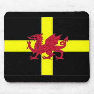 St Davids Day with Dragon Mouse Pad
