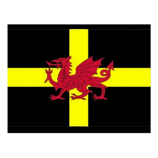 St Davids Day with Dragon Post Card