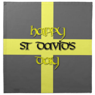 St David's Day with St David's Flag Cloth Napkin
