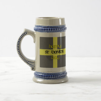 St David's Day with St David's Flag 18 Oz Beer Stein