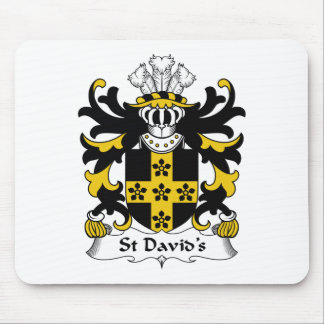 St David's Family Crest Mouse Pad