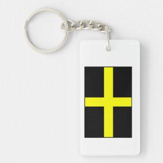 St. David's Flag Wales Welsh Double-Sided Rectangular Acrylic Keychain