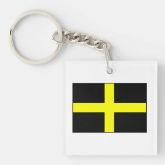 St. David's Flag Wales Welsh Double-Sided Square Acrylic Keychain