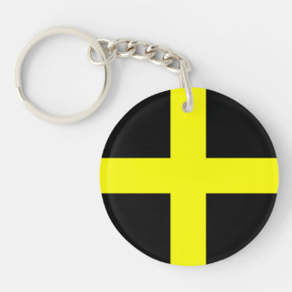 St. David's Flag Wales Welsh Double-Sided Round Acrylic Keychain