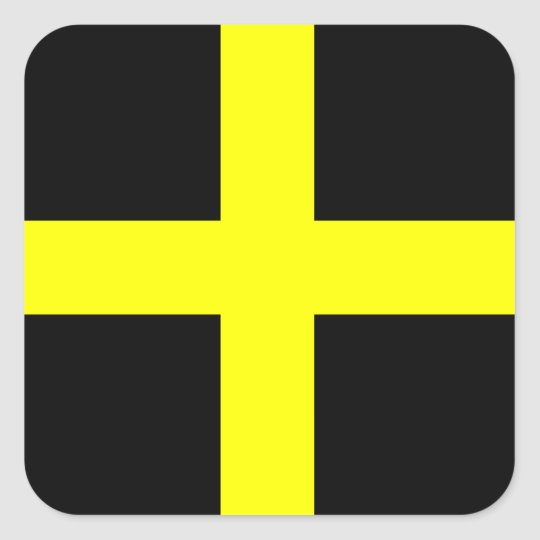 St. David's Flag Wales Welsh Square Sticker