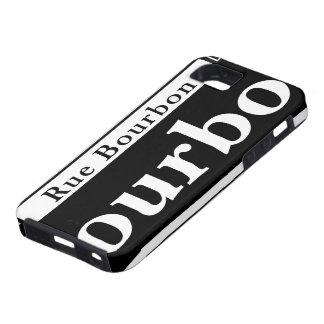 St. de Borbón, placa de calle de New Orleans Funda Para iPhone SE/5/5s