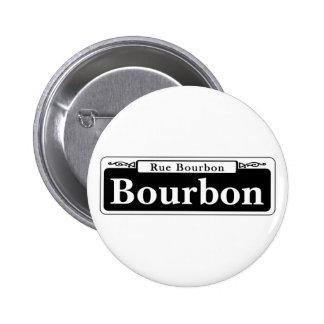 St. de Borbón, placa de calle de New Orleans Pin Redondo 5 Cm