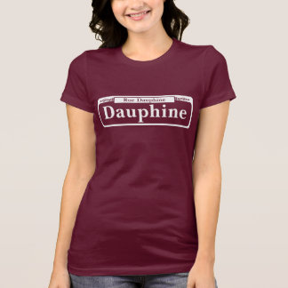 St. de Dauphine, placa de calle de New Orleans Playera