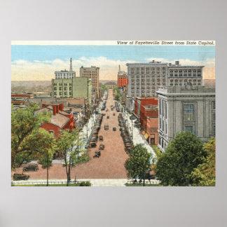 St de Fayetteville Raleigh vintage del NC Posters