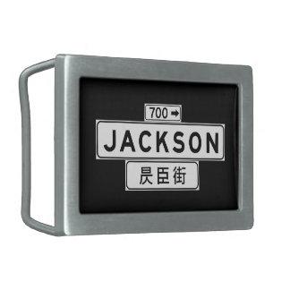 St. de Jackson, placa de calle de San Francisco Hebilla Cinturón Rectangular
