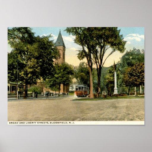 St. de la libertad, Bloomfield, vintage 1918 de NJ Impresiones
