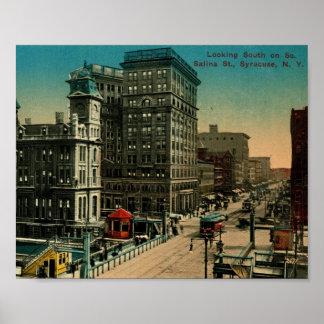St. de la salina, vintage de Syracuse, Nueva York Impresiones