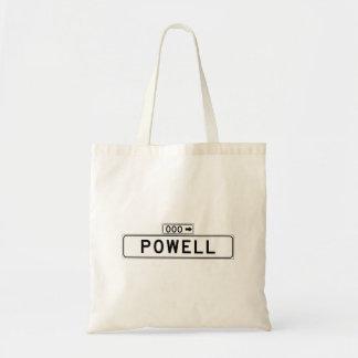 St. de Powell, placa de calle de San Francisco Bolsa Tela Barata