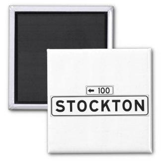 St. de Stockton, placa de calle de San Francisco Imán Cuadrado