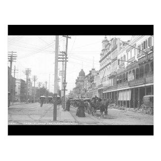 St. del canal de New Orleans del vintage del monum Postales