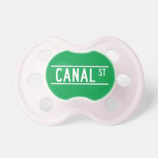 St. del canal, placa de calle de Nueva York Chupetes Para Bebes