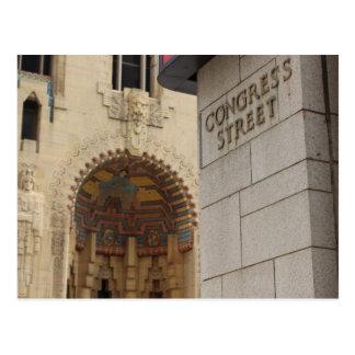 St del congreso, Detroit, Michigan, edificio del Tarjetas Postales