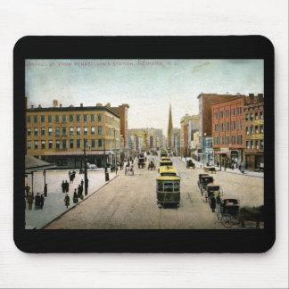 St. del mercado, vintage 1909 de Newark NJ Mouse Pad