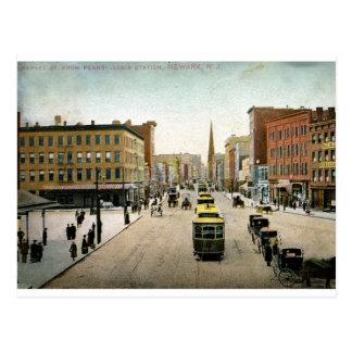 St. del mercado, vintage 1909 de Newark NJ Tarjetas Postales