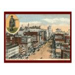 St. del mercado, vintage 1918 de Newark NJ Postal