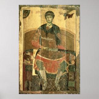 St. Demetrius of Salonica, 12th century Poster