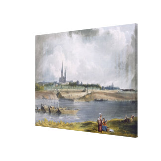 St. Denis, from 'Views on the Seine', engraved by Canvas Print