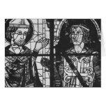 St Denis que da el oriflamme al caballero clemente Tarjeta De Felicitación