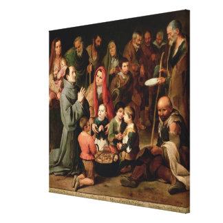 St. Diego de Alcala que da la comida a los pobres Impresiones De Lienzo
