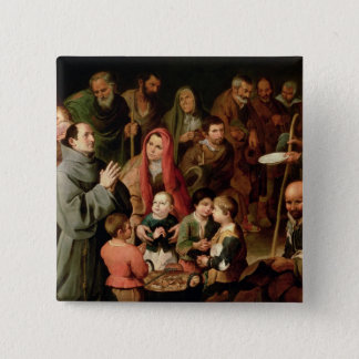 St. Diego of Alcala Giving Food to the Poor Pinback Button