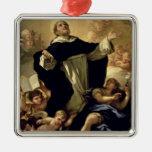 St Dominic, 1170-1221 Adorno Cuadrado Plateado